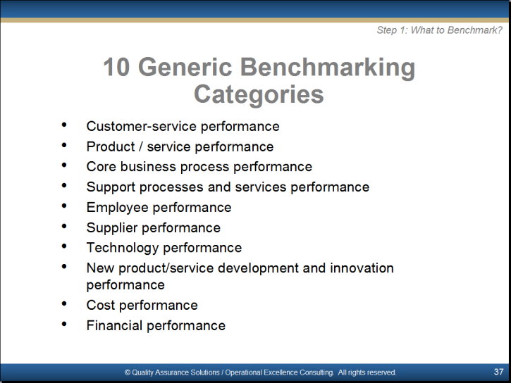 benchmarking training powerpoint