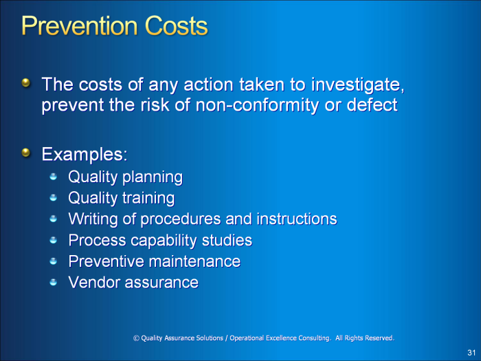 Cost of Quality PowerPoint
