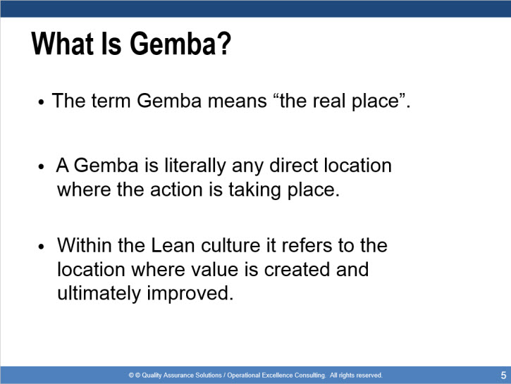 gemba walk training presentation