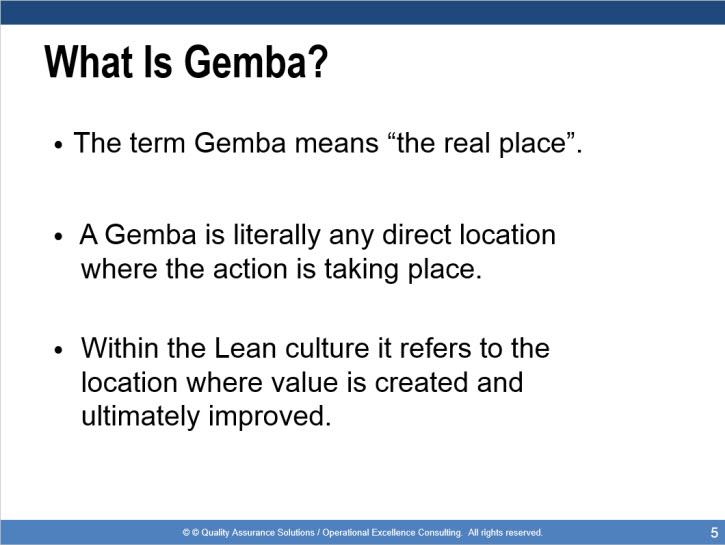 Gemba Walk Training Presentation