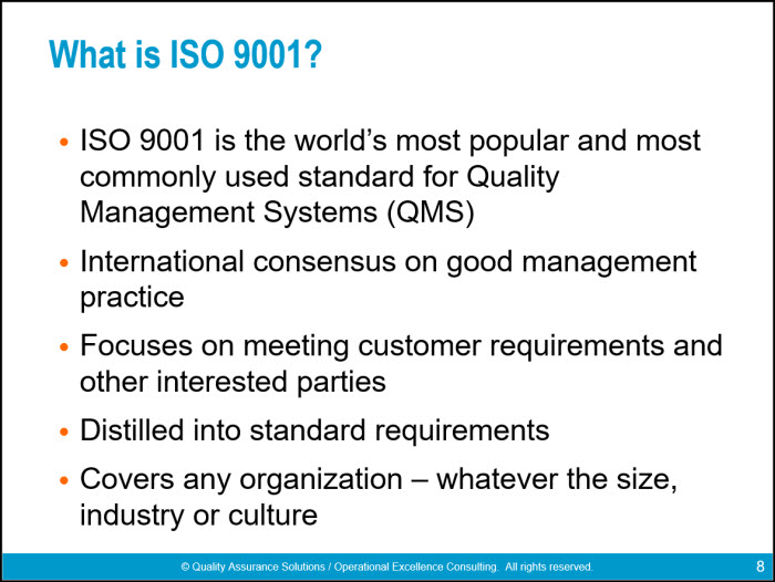 Iso 9001 2015 Awareness