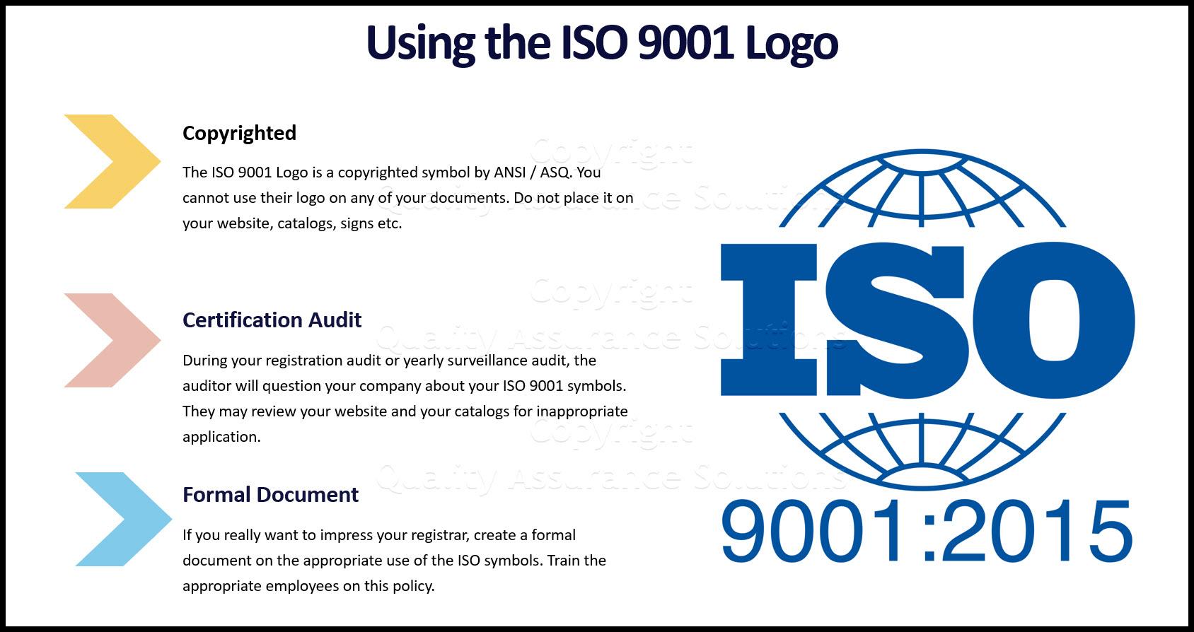 ISO 9001 Logo business slide