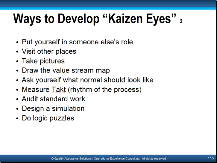 Kaizen Training Powerpoint