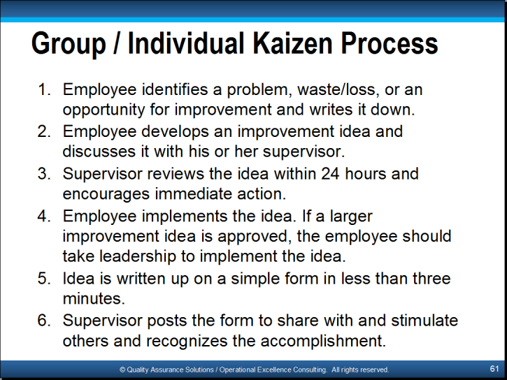10 Basic Steps Of Kaizen