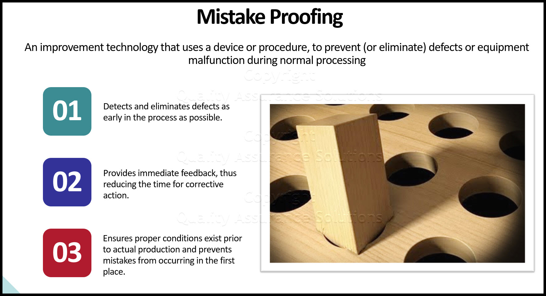 Mistake proofing business slide
