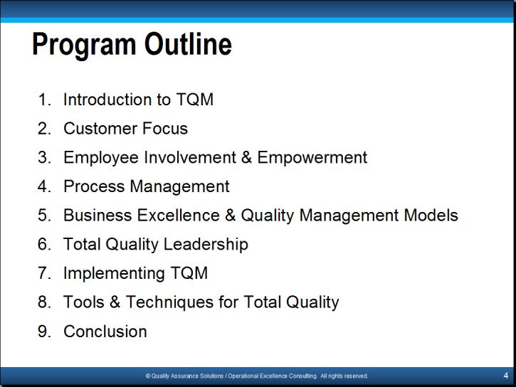 """the fundamental principles of tqm Dr armand v feigenbaum, the developer of """"total quality control"""" concept he established the principles of total quality management (""""tqm"""")."""