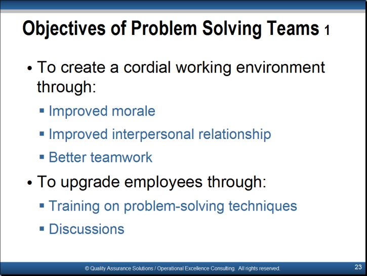 t889 problem solving and improvement quality and other approaches