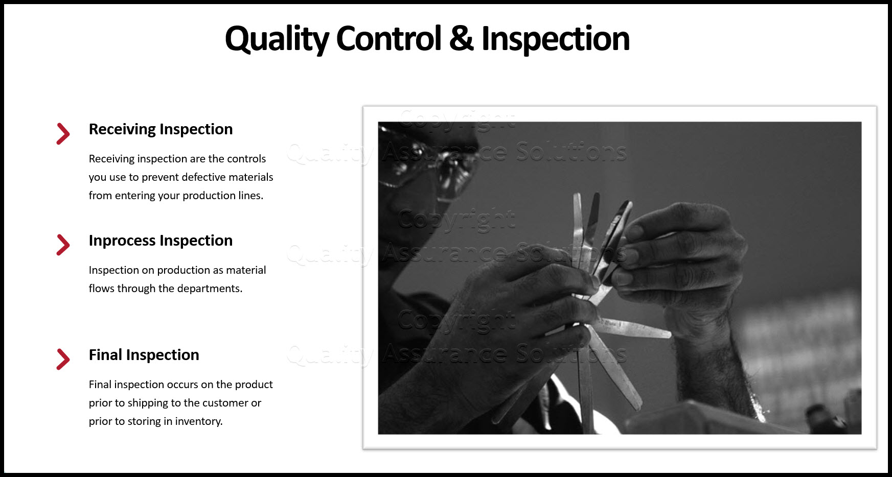 What Is Quality Control business slide