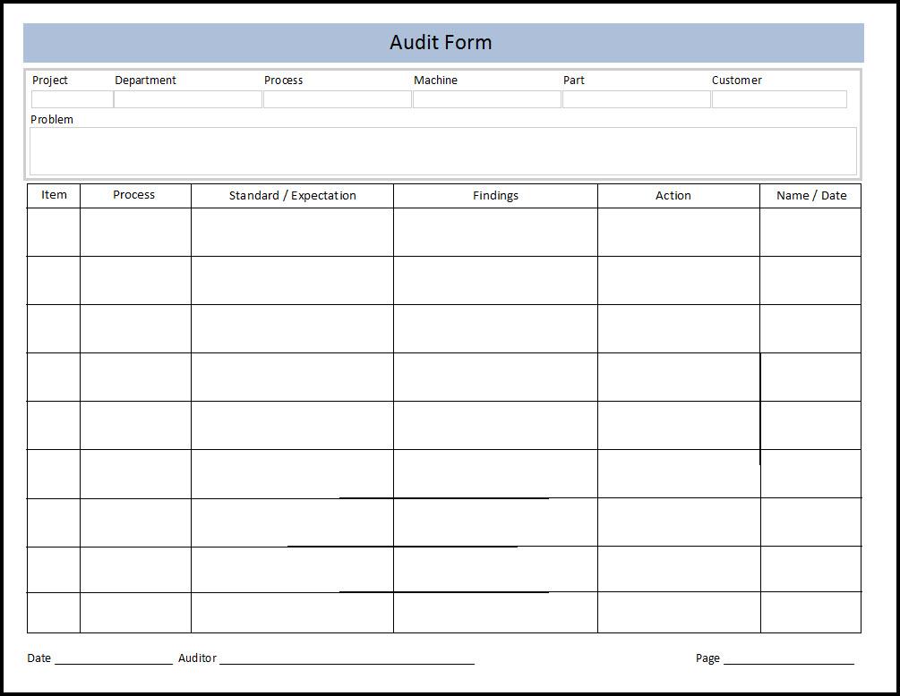 Quality Assurance Plan Template  Quality Assurance  Audit