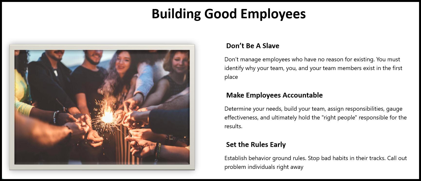 business management employee leadership