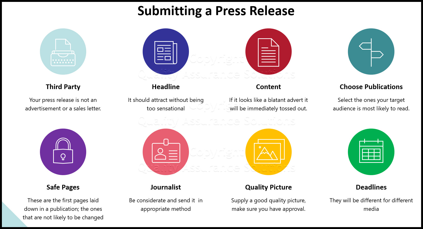 how to submit press release business slide