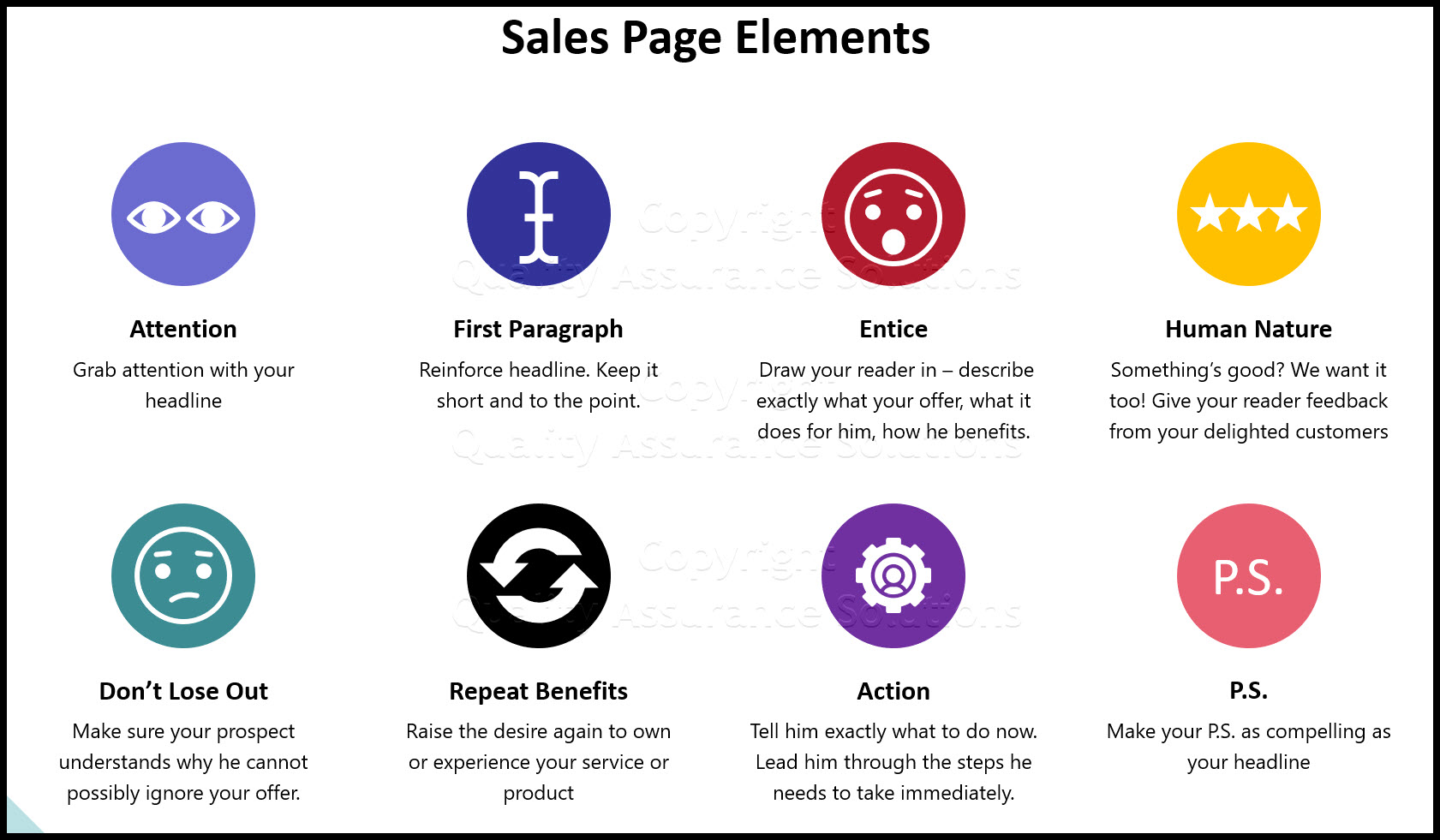 sales page template business slide