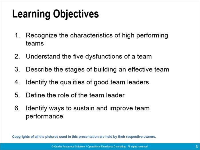 team building books training presentation for effective teams