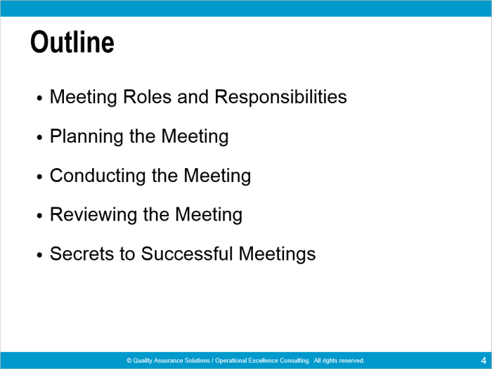 effective meetings ppt