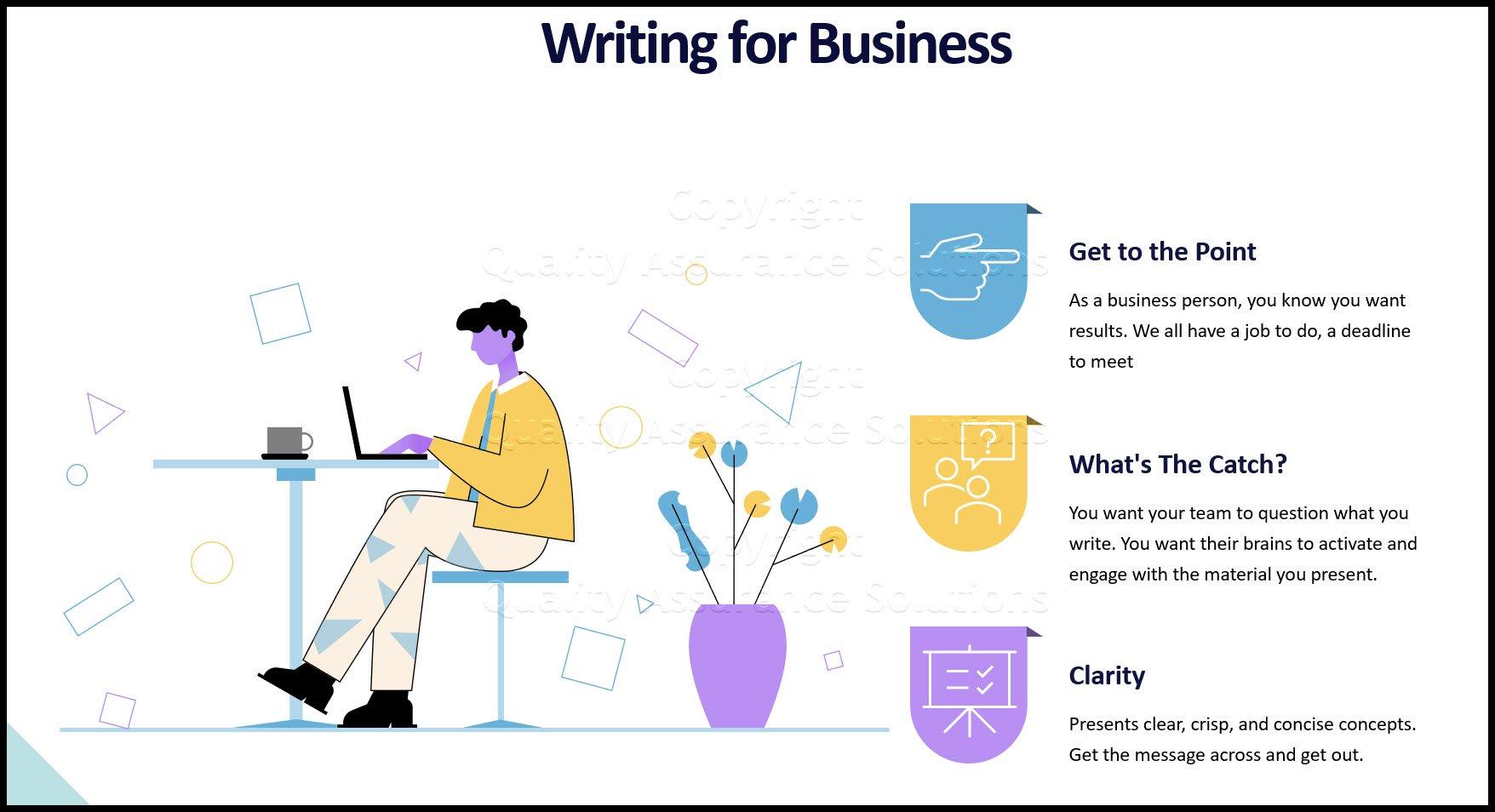 Good Business Writing business slide