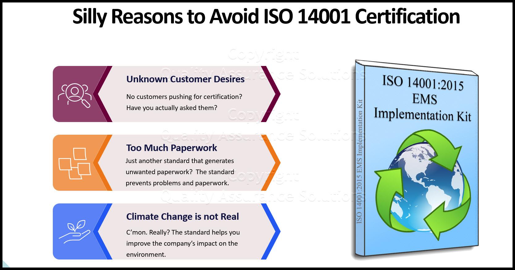 ISO 14001 standard business slide
