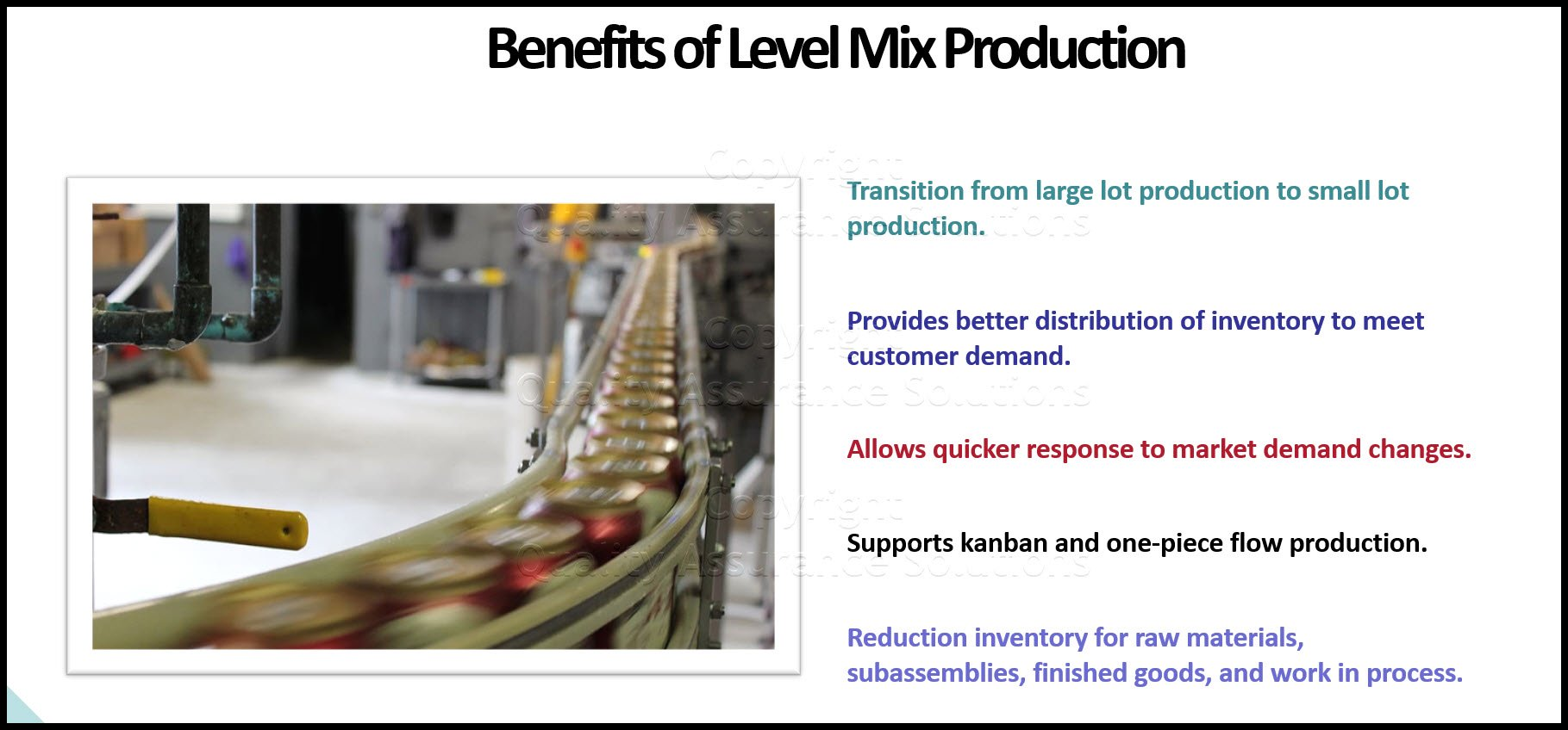 Level Mix business slide