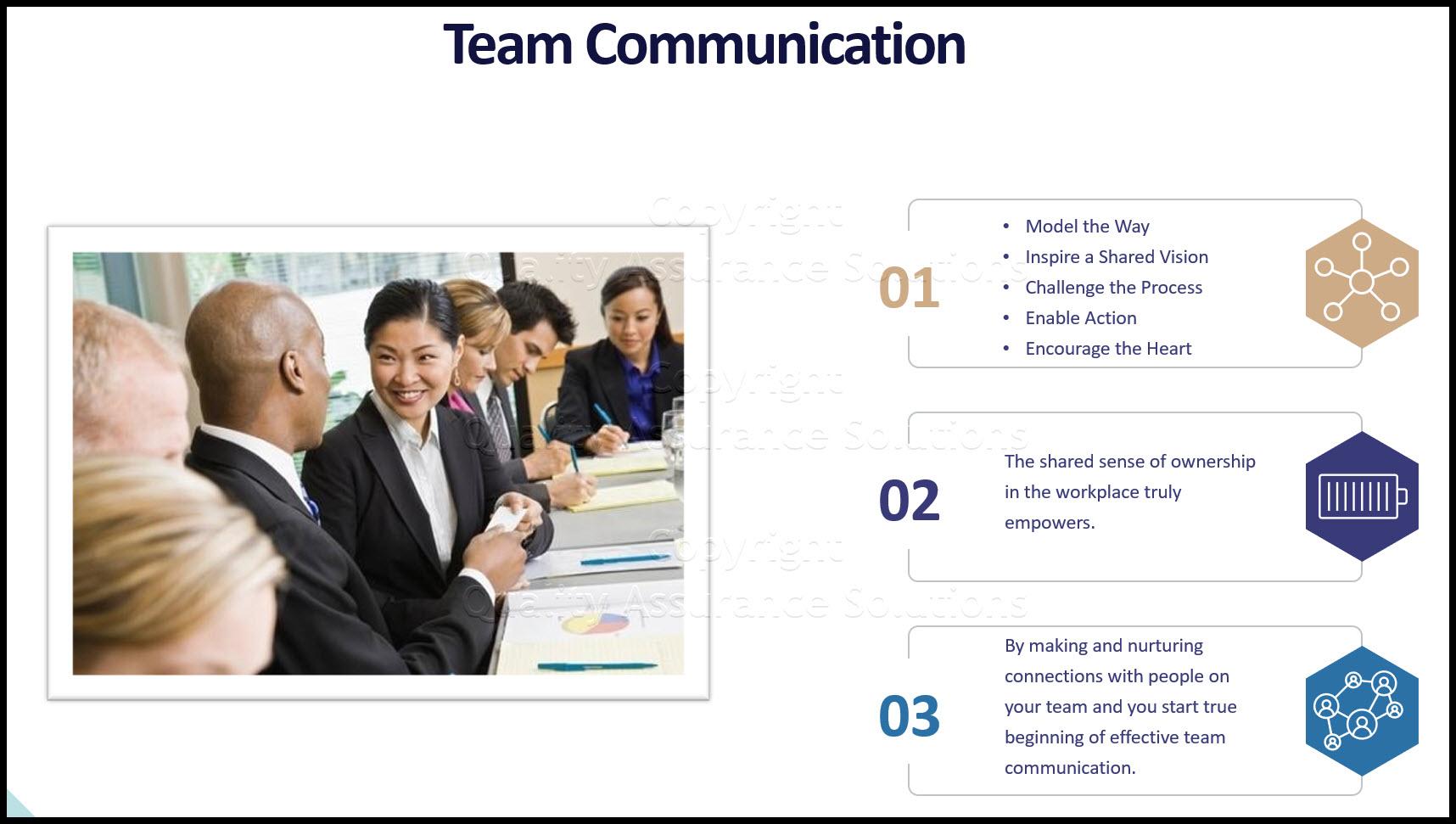 Team Communication Skills business slide