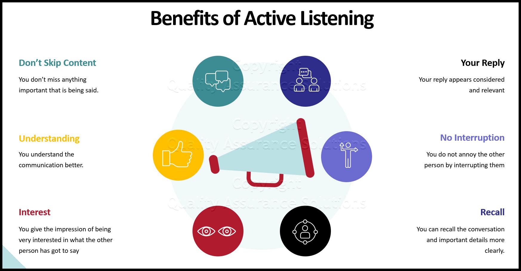 rapport leadership training active listening business slide