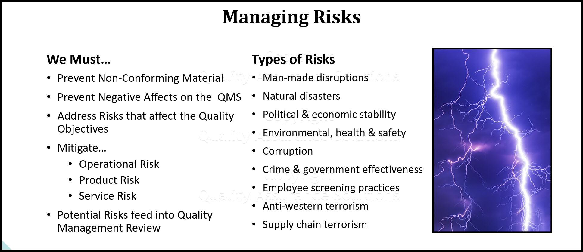 risk management plan sample business slide
