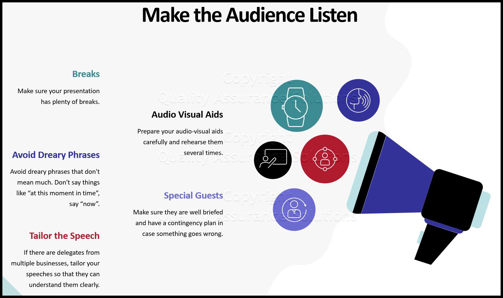 tips to public speaking business slide